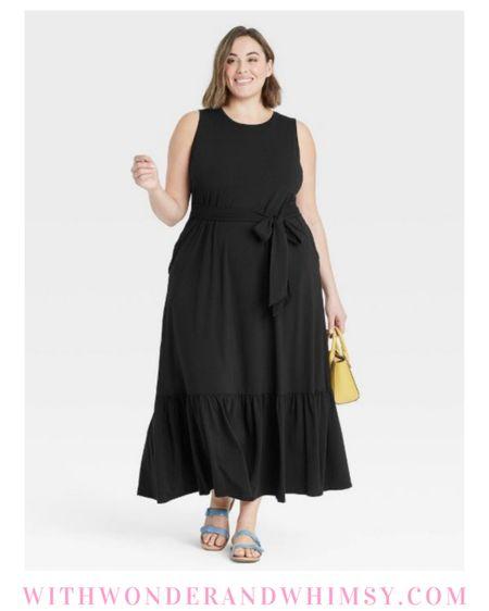 $28 Target dress in straight and plus sizes 🖤  http://liketk.it/3g6AH #liketkit @liketoknow.it #LTKcurves #LTKunder50 #LTKunder100
