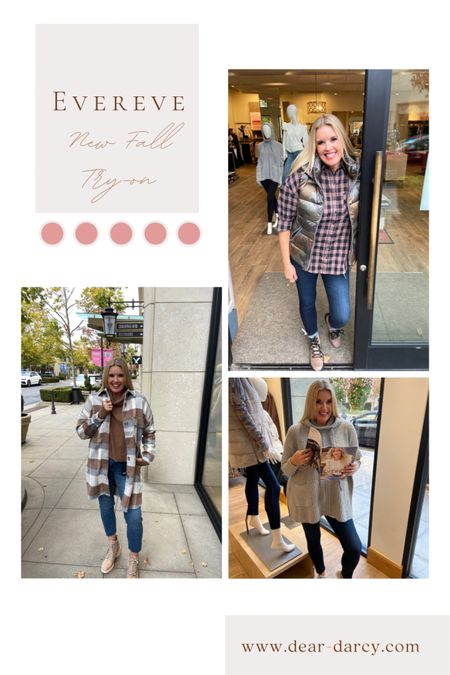 Fall Evereve try-on🍁🍂  Great pieces for Fall  Shacket, boots and booties, good American jeans, kut from kloth jeans, sorels, plaid button ups, sweaters…. . Great Gift ideas too🎁🎁   #LTKGiftGuide #LTKstyletip #LTKshoecrush