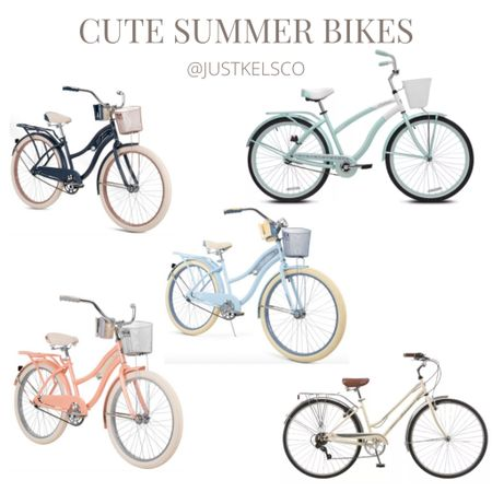Cute summer bikes with baskets on my wishlist 🤍 a few at Walmart are currently out of stock but should be back in stock soon. Target has similar ones available   #LTKhome #LTKtravel #LTKsalealert
