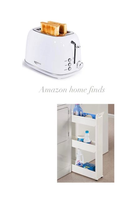 Home finds Toaster Laundry slim storage cart Amazon finds   #LTKhome #LTKunder50