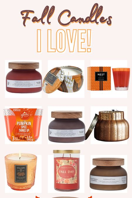 Fall Candles I LOVE from Anthropologie, Walmart, and Target! These fall scents of pumpkin and warm vanillas are my favorite! #candle #fall #fallcandles #target #walmart #anthropologie   #LTKSeasonal #LTKhome #LTKunder50