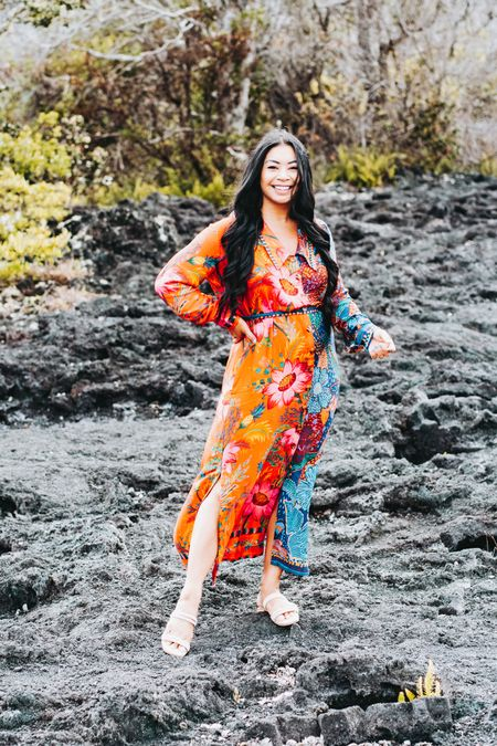 Multi print dress from Farm Rio #hawaii  #LTKtravel #LTKstyletip