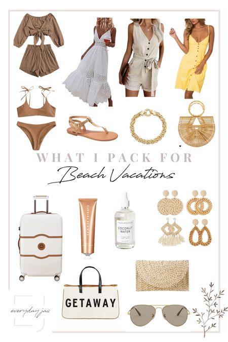 Cute and affordable beach vacation Finds!   #LTKunder50 #LTKunder100 #LTKtravel