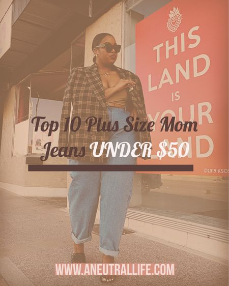 I'm with Gen Z, I HATE skinny jeans 😜  I've been rocking a mum/boyfriend jean silhouette for while now and to me, it just gives off such elegant chic vibes. But finding cheap plus size mom jeans? Girl, hard as HELL!   I've rounded up my top 10 fave plus size mom jeans under $50 - in sizes 12-32 😘  #LTKunder50 #LTKstyletip #LTKcurves