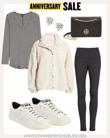 This creamy jacket is  at a great price point and pairs well with these black leggings or denim.   #LTKsalealert #LTKunder50