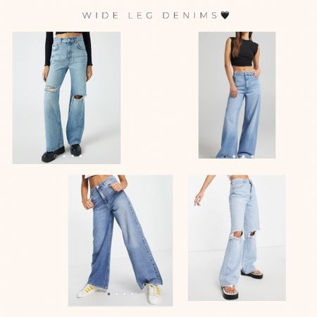 Wide leg denims the fit we wear the most atm 😇😇 and some are even on sale xx   #LTKeurope #LTKunder50 #LTKSale
