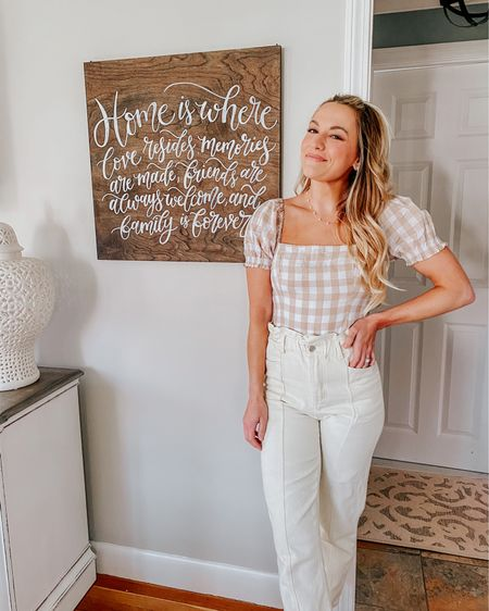 Would you believe me if I said this is one of the only signs I've made for our house? 🙈  I am the worst at setting aside time to make pieces for myself! I am planning do to a super fun wall design this weekend, and need to make a sign for it! 💗  The wall display will be going in our bedroom, what should I write on the sign? Our first dance lyrics, a sweet quote, let me know what you think! 🤗💕   http://liketk.it/3eCTz #liketkit @liketoknow.it