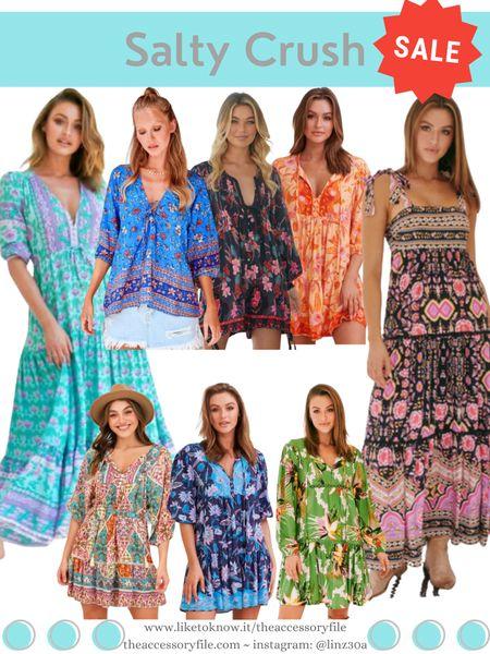 End of year sale!   Maxi dress, flowy tops, mini dress, vacation look, vacation outfit, beach vacation dress, free people inspired dress, colorful dress, salty crush   http://liketk.it/3hKZ3 #liketkit @liketoknow.it #LTKsalealert #LTKstyletip #LTKunder50