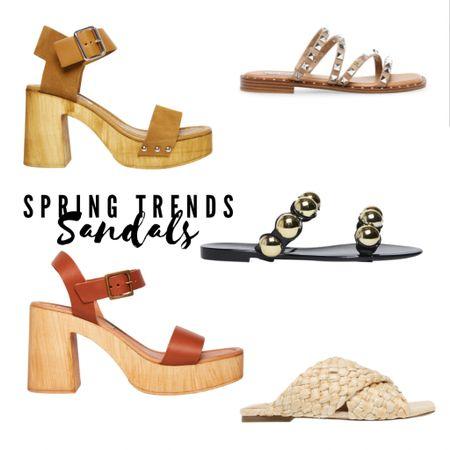 Trending spring sandals by Steve Madden.   #spring #springshowhaul #springshoes  #showhaul #springfashion #springstyle #sandals #shoes #studdedsandals #braidedsandals #summersandals #neutralsandals  Shop my daily looks by following me on the LIKEtoKNOW.it shopping app.   #LTKshoecrush #LTKSpringSale #LTKunder100