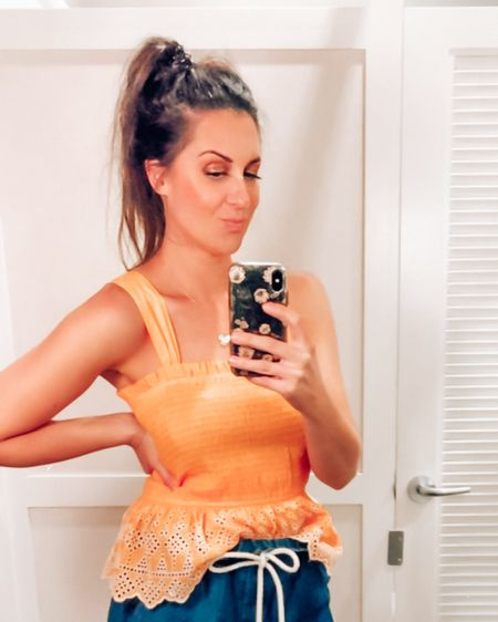 🤍🧡Happy summer! Summer fashion is in full swing and this orange peplum eyelet tank is so casual and cute. Rock this with your swim look, with a cutie travel outfit or even Disney outfit. I wore this all weekend long and the tagged bag is one of my fav Amazon finds. Plus, this cutie tank is so affordable and easy for a bachelorette weekend or casual summer date. Happy shopping!  . .  http://liketk.it/3jtdF #liketkit  #LTKswim #LTKtravel @liketoknow.it  #target #amazonfinds #amazonfashion #summeroutfits #momshorts #disneyoutfits #traveloutfits #businesscasual #peplum #orangetop #eyelettop #platform #platformsandals #slideonsandals #bacheloretteparty #casualoutfits #targetstyle #matchingsets #loft #platform #platformsandals #summerbag #beachbag