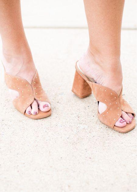 White House Black Market Studded Sandals  Size up 1/2 for best fit  Heeled Sandals Women's Shoes Fall Shoes   #LTKSeasonal #LTKstyletip #LTKshoecrush