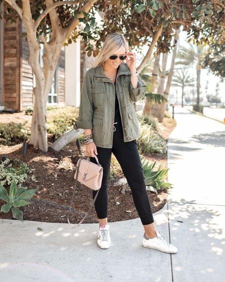 Heads up - this fave fall jacket (that I've actually worn year round for a few years now) is currently on sale. Take up to 30% off with code GOSPREE. Head over to the link in my bio to shop. 😘    #LTKunder100 #LTKsalealert #LTKitbag