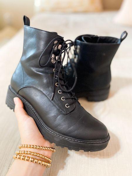 Loving these combat boots, great doc marten alternative! Fits true to size as well. #combatboots #boots #targetstyle #targetfinds   #LTKshoecrush #LTKSeasonal #LTKunder50