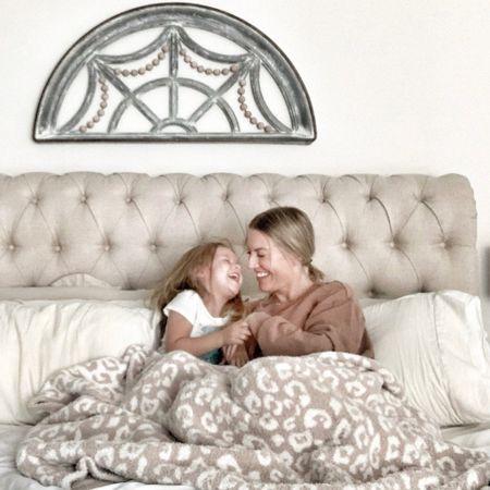 Cozy, throw blanket, Barefoot dreams dupe, upholstered bed, bedroom decor  #LTKhome #LTKfamily #LTKunder100