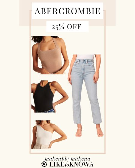 #LTKSpringSale #LTKsalealert #LTKunder50 http://liketk.it/3ctOQ #liketkit @liketoknow.it These Abercrombie tops and high waisted mom jeans are perfect for spring and summer. Get 25% off sitewide this weekend for the LTK Spring Sale!   #LTKsalealert #LTKswim #LTKSpringSale