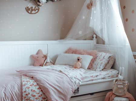 Girls Room Bedding. Twon Bedding for Girls. My favourite finds from Pottery Barn Kids in my Girls' room. ✨  xoxo    #LTKhome #LTKfamily #LTKkids