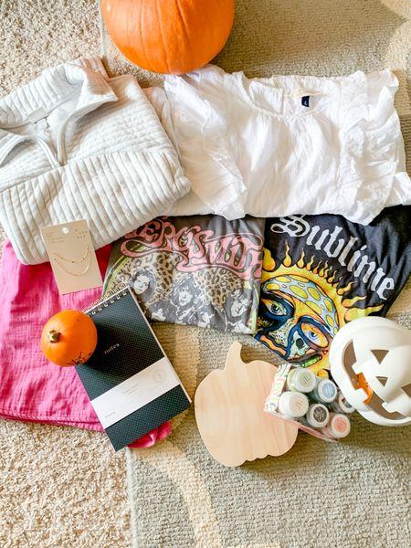 Latest Target haul 🎯 Pumpkins, graphic tees, & crafts, oh my!   #LTKSeasonal #LTKunder50 #LTKunder100