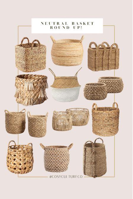 Neutral woven decor baskets!     #LTKhome #LTKfamily #LTKstyletip