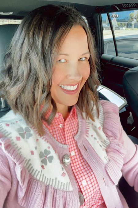 My go-to affordable business casual look this summer : this pink gingham Draper James dress + this cardigan for those chilly indoor temps.   #LTKunder100 #LTKworkwear #LTKstyletip