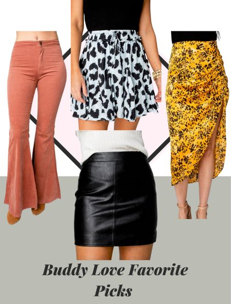 Buddy love fall bottoms are amazing. Shop their skirts, leather skirts and bell bottom pants! All amazing looks for fall! #bottoms #leatherskirt #buddylove   #LTKstyletip #LTKSeasonal #LTKSale