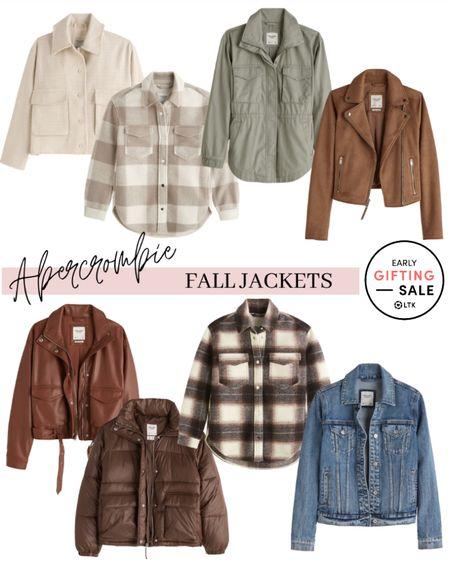 Shacket  Abercrombie Fall jackets Shirt jacket  #shacket #shirtjacket #falljacket #motojacket #leatherjacket #abercrombiejacket #abercrombie #outerwear #falljackets #fallfashion #fallstyle #falloutfits  #LTKunder50 #LTKSale #LTKunder100