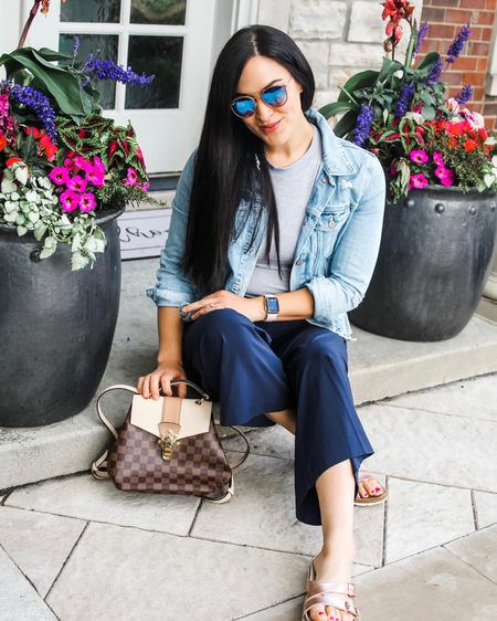 Perfect spring and summer outfit  I love these wide legged pants! http://liketk.it/3f85A #liketkit @liketoknow.it