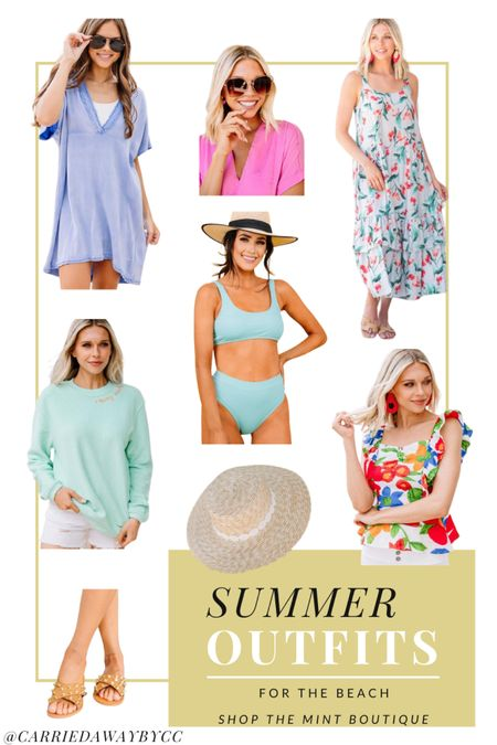 Summer Outfit Ideas for the beach from Shop The Mint Boutique   #LTKtravel #LTKstyletip #LTKSeasonal