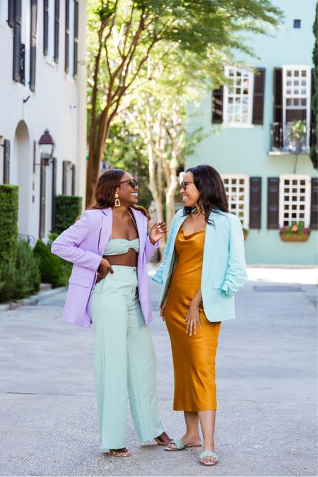 Pastel suits for summer in Charleston! We love color 🌈 http://liketk.it/3gQzK #liketkit @liketoknow.it #LTKunder100