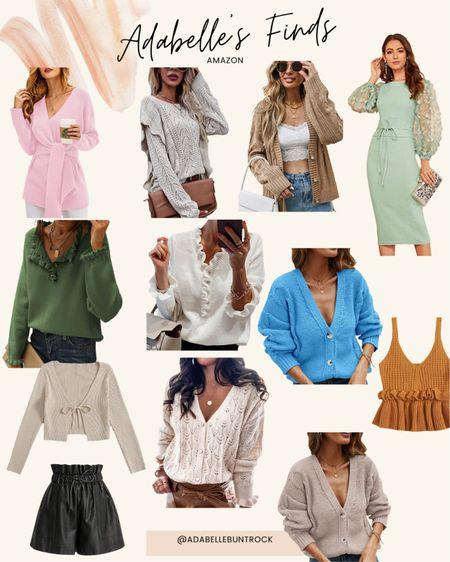 Amazon  finds sweater cardigan shirt shorts   #LTKunder100 #LTKSeasonal #LTKunder50