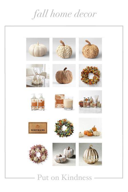 Neutral fall home decor. Pumpkins. Personalized doormat. Fall wreath. Pumpkin spice.   #LTKunder50 #LTKSeasonal #LTKunder100