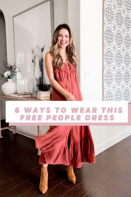 6 ways to wear this free people dress xs   #LTKstyletip #LTKunder100