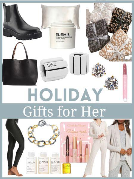 Holiday gifts for her           Gifts for her , gifts for mom , gifts for women , Christmas gifts , gift guide , gift ideas , Nordstrom finds , spanx , #ltkbeauty #ltksalealert , #ltkshoecrush , # ltkstyletip #ltkitbag tote bag , olaplex , faux leather leggings , tarte  , Elemis , the styled collection   #LTKHoliday #LTKhome #LTKGiftGuide