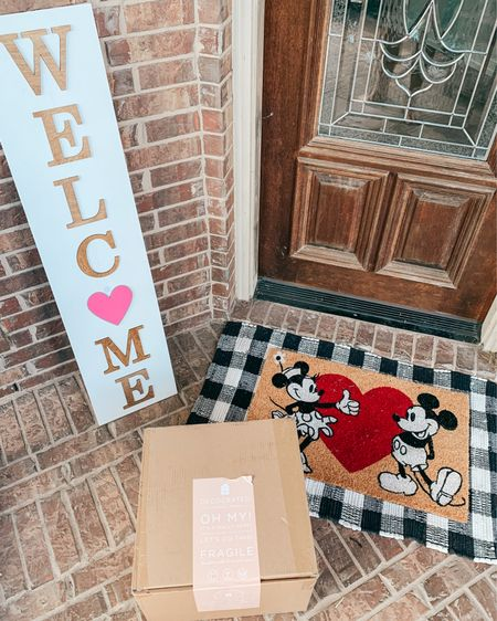 Porch decor makes a home so inviting, so I've been trying to change mine up from month to month! This interchangeable Welcome sign is definitely my favorite addition. I've links several similar options as well as similar options to this sweet Mickey and Minnie doormat. (This one is from Hobby Lobby!) // front porch decor // home decor // Disney decor // .  http://liketk.it/38bXl @liketoknow.it @liketoknow.it.home #liketkit #LTKSeasonal #LTKVDay #LTKhome