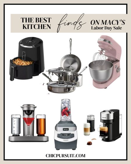 These kitchen essentials are a steal! 😍 Get extra 20% off with code LABOR thanks to Macy's Labor Day Sale happening right now 😱!! Not only are they offering the best kitchen finds, but they also have clothes, furniture, and accessories all on sale 🥳 pink stand mixer, nespresso sale, pots and pans, airfryer sale, cocktail maker, blender sale, nespress coffee maker sale  http://liketk.it/3mZ1k @liketoknow.it #liketkit #LTKsalealert #LTKhome