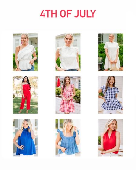 4th of July. Red white and blue. Mint julep boutique. Red dress. Blue and white gingham dress. @liketoknow.it http://liketk.it/3ipeX #liketkit