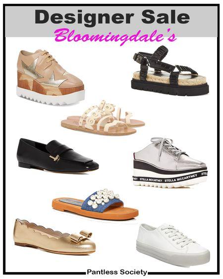 Designer sale. Designer shoes. Shoe sale. Fall shoe. Wear now shoe. Bloomingdale's. 70% off. One day sale. Buy now. Must-ve shoes. Stella McCartney. Beach vacation. Travel shoe. Work shor. White sneaker. Black loafers.  #LTKsalealert #LTKtravel #LTKshoecrush