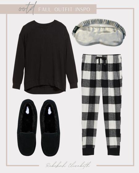 Plus size fall loungewear 🖤🤍  #LTKunder50 #LTKhome #LTKcurves