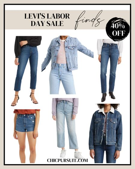 Labor Day is coming up, and Levi's is offering their own Labor Day Salewith up to 40% off on items! Quality denim with timeless and classic designs ✨👖✨ @liketoknow.it #liketkit 70sdenim , sales finds, jeans, denim jacket, denim shorts   #LTKsalealert #LTKunder100 #LTKstyletip