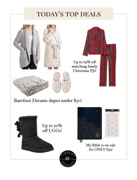 MEGA SALE 🤩 Found these Barefoot Dreams dupes under $30 — makes the perfect gifts for the holidays! Plus Old Navy matching family Christmas pajamas are 65% off and comes in tons of different colors/patterns ❤️  #LTKHoliday #LTKGiftGuide #LTKsalealert