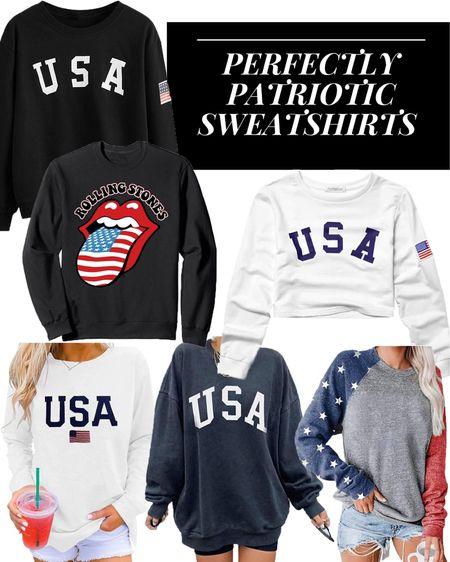 Patriotic Sweatshirts for the 4th of July!  http://liketk.it/3gfA4 #liketkit #LTKunder50 #LTKunder100 #LTKsalealert @liketoknow.it