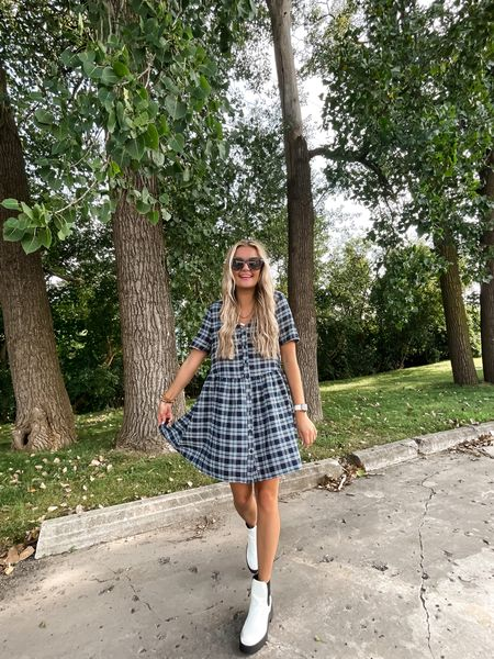 We love a comfy flannel dress! Love this fall outfit  #LTKunder50 #LTKbacktoschool #LTKstyletip