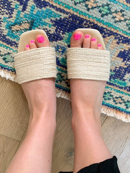 Sandal slides rattan $20  #LTKshoecrush #LTKsalealert #LTKunder50
