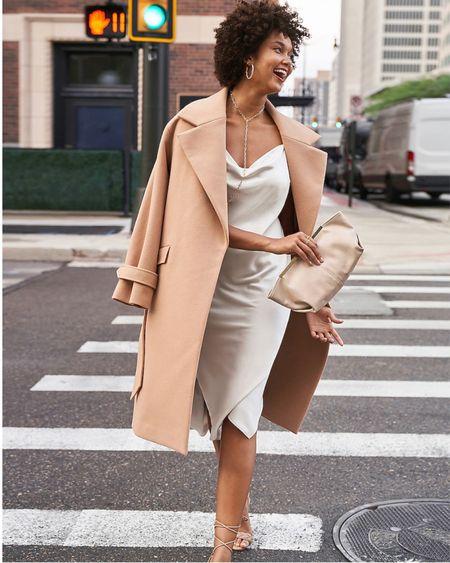 Express dresses Sweetheart Neckline Midi Sweater Dress, Satin Cowl Neck Midi Slip Dress, Mock Neck Sleeveless Midi Sweater Dress  #LTKSeasonal