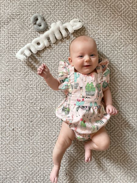 Monthly letters for baby's first year and party outfit linked!  #LTKbaby #LTKunder100 #LTKhome