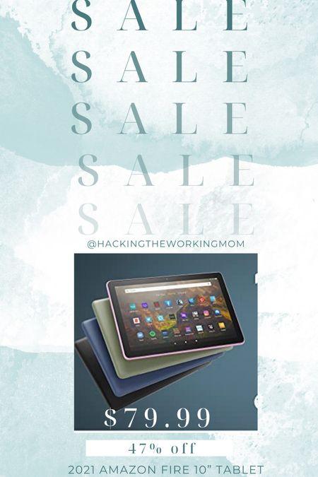 "Amazon fire tablet 2021 in amazon prime day. 10"" tablet  #LTKsalealert #LTKhome #LTKfamily"