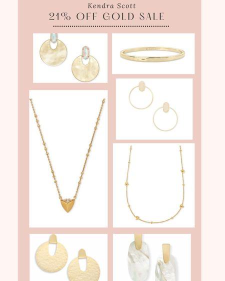 Kendra Scott 21% off gold jewelry today!  http://liketk.it/36ArT @liketoknow.it #liketkit #LTKunder100 #LTKsalealert #LTKunder50