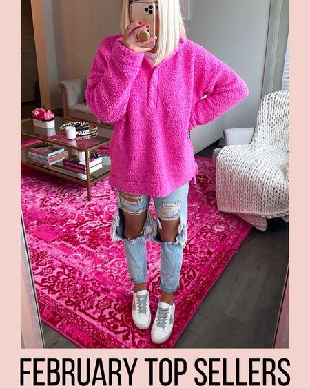 Aerie hot pink cloud sherpa pullover!! Wearing XS http://liketk.it/2L9bv @liketoknow.it #liketkit