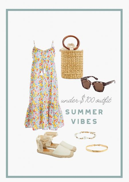 """A dressy summer outfit for summer weddings or just date night out. Use code """"HOT"""" for an extra 25% off. #summerdress #weddingguestdress #summeroutfit   #LTKunder100 #LTKSeasonal #LTKsalealert"""