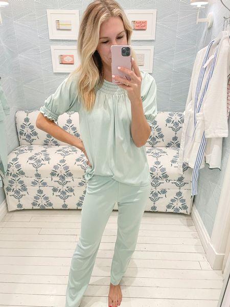 Smocked pajamas set that is SO comfy!! Lake pajamas