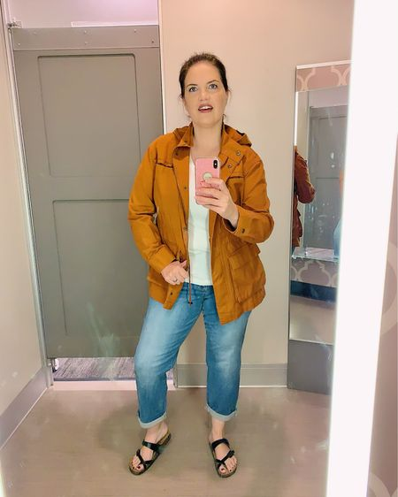Try on sesh at Target. Totally diggin this pumpkin color jacket. Also, these jeans feel like they literally lift my butt😂 ...really.  . The whole outfit is by Universal Thread and fit me perfectly. I am officially a fan.  . Tee size Large Jacket size Large Jeans size 14 . All the deets are in the link in my stories. . Download the LIKEtoKNOW.it app to shop this pic via screenshot  . . .  #LTKcurves #liketkit #Summer #sun #summersun #fashion #fashionista #modestfashion #modeststyle #target #universalthreadattarget #summerfashion #universalthreadgoodsco  #universalthread #modestclothing #modest #modestfashionblogger #modestfashionista #fashionable #over40 #styleover40 #over40style #40pluswomen #40plusstyle #lds #ldswoman #thereisbeautyallaround #utahlifestyle #utahlife @liketoknow.it http://liketk.it/2Ejhe